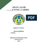 BAHAN Ajar Greeting Card Dy