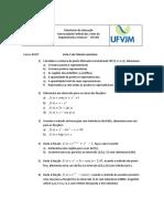 Lista 2 de Cálculo Numérico