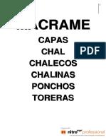Manualidades en Macrame- Capas, Chal, Chalecos, Chalinas, Ponchos, Toreras