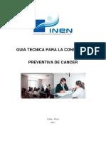 Cáncer - Guia Tecnica Para La Consejeria Preventiva de Cancer_inen 2011