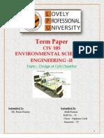 Design of Grit Chamber -Environment Civ105- 15