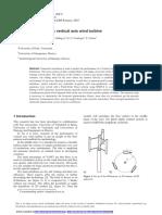 Design of H-Darrieus Vertical Axis Wind Turbine