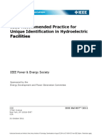 Ieee Recommended Practice for Unique Identification in Hydroelectric Facilities