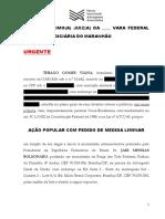 Acao Popular - Jair Bolsonaro - Redes Sociais