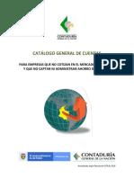 Catalogo General de Cuentas de Empresas Que No Cotizan en Bolsa