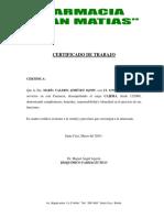 146204948 Certificado Trabajo Farmacia