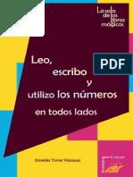 Leo, escribo y utilizo los numeros
