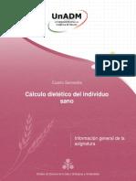 Cálculo Dietético Del Individuo Sano