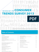 2013 Global Consumer Trends Survey Extract
