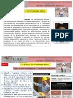 1°, 2°, 3°, 4°, 5° Clase Control y Supervision de Obras