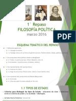 1° Repaso - Filosofía Política