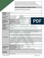Infome Programa de Formación Titulada Soldadura