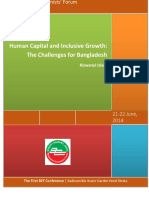 Human Capital and Inclusive Growth - The Challenges for Bangladesh