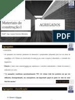 Materiais de construção I - Aula 02 - Agregados.pdf