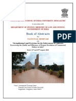 Book of Abstracts National Seminar on Strengthning Enforcement of Contracts 1