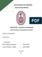 FISICA LABO5. 2019 1 Principio de Arquimedes