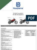 DESPIECE HUSQVARNA TERRA 650 2013