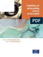 Guidelines on safeguarding privacy in the media - 2018