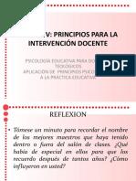 Principios Para La Intervencion Docente