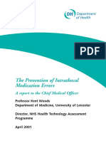 9.- The Prevention of Intrathecal Medictionl Errors Woods K Department of Health UK 2001.pdf