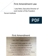 The State of First Amendment Law