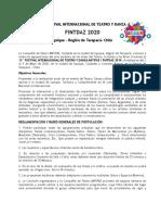 BASES GENERALES DE POSTULACIÓN Y FICHA DE INSCRIPCIÓN FINTDAZ 2020 IQUIQUE CHILE