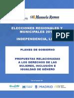 Análisis de planes de gobierno a la Alcaldía de Independencia (Lima)