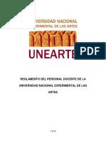 Reglamento de Los Docentes Unearte [17 Septiembre 2015] (Web)