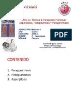 Micosis y parásitos pulmonares