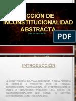 ACCIÓN DE IN CONSTITUCIONALIDAD ABSTRACTA