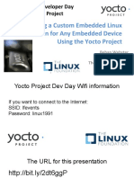 Creating a Custom Embedded Linux Distribution for Any Embedded Device Using the Yocto Project