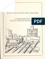 fully allocated cost analysis for public transportation