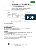 FURUNO FE700 Data Recording Software v5.02 Operator's Manual