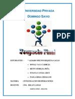 Modelo de Proyecto Investigacion Operativa
