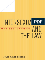 Julie a Greenberg - Intersexuality and the Law Why Sex Matters