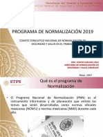 Programa de Normalizaciòn 2019