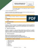 Instructivo Verificacion de Rtd e Indicadores de Temperatura.