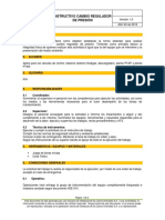 Instructivo Para El Cambio de Reguladores de Presion