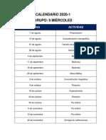 Calendario 2020-1 Grupo 9 Miercoles.docx