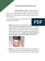 Medidas de Higiene y Nutricionales Para Cuidado de La Piel
