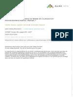 GANEM, Valérie; GERNET, I.; DeJOURS, C. Le Travail, Que Signifie Ce Terme en Clinique Et Psychopathologie Du Travail