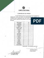 Comunicado Bancas Corte Electoral