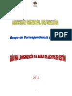 Organizacion de Archivos y Manejo de Archivos de Gestión