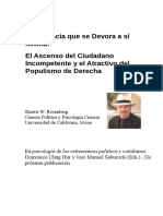 La Democracia que se Devora a si Misma, El Ascenso del Ciudadano Incompetente y el Atractivo del Populismo de Derecha - Shawn W. Rosenberg (Univ California)