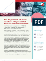 Take the guesswork out of video  surveillance with pre-validated  Milestone solutions from Dell EMC