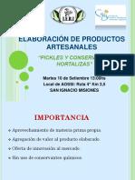 Elaboración de Productos Artesanales