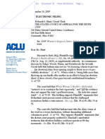 ACLU Doc on Abortion Clinic Case