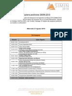 Programa Peliminar SIMIN 2019
