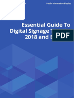 Essential Guide to Digital Signage Trends 2018 and Beyond