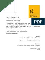 OPTIMIZACIÓN DE TIEMPOS DE CRIANZA Y MANEJO DE TRUCHAS